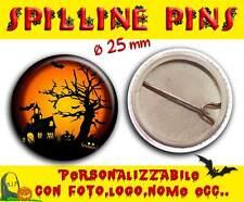 Spilla Spillina Pins 25 mm Collezione Halloween paesaggio spettrale