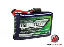 Nanotech 500mAh 1S 1 cella 3.7 V 25 ~ so C Lipo Battery Pack LOSI mini compatibile