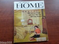 American Home Magazine Oct. 1956 Vintage Ads Decorating Design Appliances Food