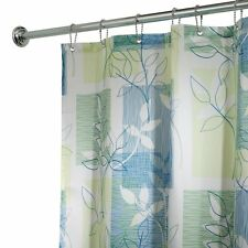 InterDesign Botanical Shower Curtain, 72-Inch by 72-Inch, Blue/Green , New, Free