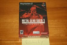 Metal Gear Solid 3: Subsistence Limited Edition (PS2) NEW SEALED NEAR-MINT, RARE