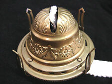 PREMIUM GRADE  EMBOSSED QUEEN  ANNE No 2 SOLID BRASS OIL LAMP BURNER