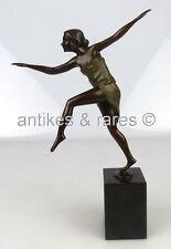 Jugendstil Bronze farbig gefasst, tanzende Frau, Art Wiener Bronze