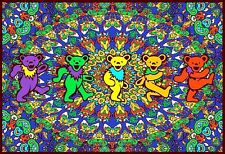 "3.25"" Grateful Dead DANCING BEARS MANDALA Vinyl bumper Sticker. For car or bong"