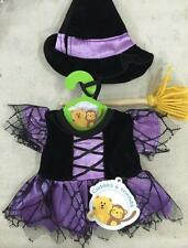 "PURPLE WITCH TEDDY CLOTHES CUDDLES HALLOWEEN OUTFIT FITS 15"" (40cm) BUILD A BEAR"