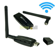 Dual Band 2.4/5Ghz WiFi Wireless N USB Adapter Dongle Card W/ External Antenna
