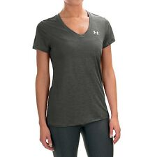 Under Armour Heatgear Women's V-Neck Semi-sheer Loose Fit Athletic Shirt, size L