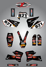 KTM EXC Series 2005 - 2007 Full  Custom Graphic  Kit - BARBED STYLE stickers
