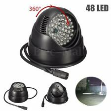 360° 12V 48 LED Illuminator IR Infrared Night Vision Light Lamp For CCTV Camera