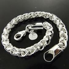 88 GENUINE REAL 925 STERLING SILVER S/F SOLID RETRO STYLE LADIES BRACELET BANGLE