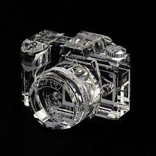 Nikon Camera Lens Book Shelf Bookend Screen Hand Photo Crystal Decor Picture Box