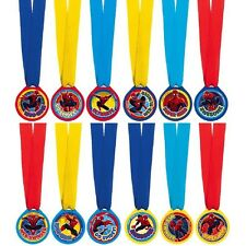 Marvel Ultimate Spiderman Birthday Party Award Medals 12 Pcs