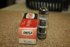 6EM5 OMEGA VINTAGE TUBE WITH BLACK PLATES - NOS IN BOX