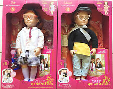 """Our Generation Set of Twins SABINA & SIA 18"""" Deluxe Dolls New   3+"""