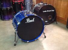 "22"" Pearl BLX Bass Drum ALL BIRCH SHELL 16""x22"" SHEER BLUE LACQUER"