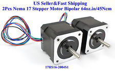2Pcs Nema 17 Stepper Motor Bipolar 64oz.in/45Ncm For 3D Printer Reprap Robot CNC
