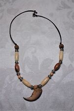 Vintage Primitive Bear Claw Necklace Handcrafted Sterling Silver