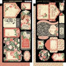 """GRAPHIC 45 """"MON AMOUR"""" TAGS & POCKETS DIE CUTS ROMANCE LOVE  SCRAPJACK'S PLACE"""