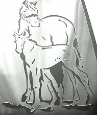 H4 NEW A4  Airbrushing Stencil HORSE FOAL Colt Template Textile Paint Craft