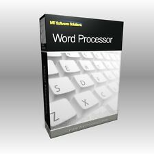 Word Processor MS 2003 2010 2013 Compatible Software Computer Program