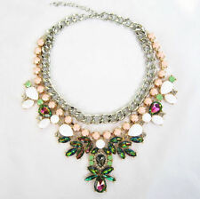 COLLIER PLASTRON STRASS MULTICOLORE ASOS NEUF NECKLACE JEWEL
