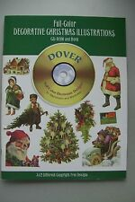 Full-Color Decorative Christmas Illustrations CD-Rom and Book 362 Different Desi
