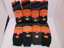 JOB LOT MEN`S  THICK THERMAL WORK  SOCKS BLACK