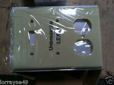 Orbit OP28-I 3-Gang Wall Plate 2 Switch and 1 Duplex IVORY
