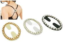 Rhinestone Non-Slip Bra Strap Clips Studded Back Strap Holder for Women