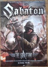SABATON Last Stand BIG POSTER Civil War/Judas Priest/Accept/Powerwolf/Gamma Ray