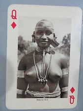 Antique Souvenir PLAYING CARD VISIT EAST AFRICA monochrome IMAGE OF ANIMALS VIEW