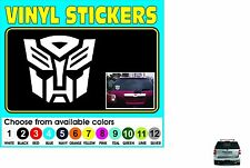 "BIG 18"" Autobot Decepticon Transformer Emblem Badge Window car decal sticker"