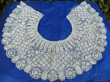 Antique Hand Made Lace Work Collar Needlework Embroidery