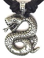 Python Serpiente Peltre Colgante Collar P0248 para Hombre Niños Niñas