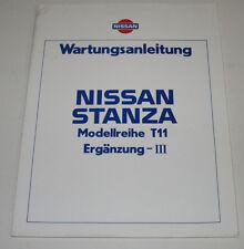 Werkstatthandbuch Nissan Stanza T11 / T 11 Kupplung Bremse  Stand Februar 1985!