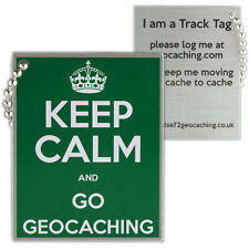 Keep calm et go geocaching track tag (travel bug geocoin)
