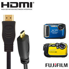 Fujifilm Finepix XP200, XP170,XP60 Camera HDMI Micro to HDMI TV Monitor 2m Cable