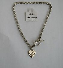 "Juicy Couture necklace 18"" with Juicy heart logo toggle clasp new with tags"