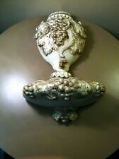 Vintage 1950s Grape Leaves Universal Statuary 2pc Water Lavabo Wall Pocket-Roman