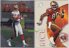 (2) E-X CENTURY/SP AUTHENTIC BASE CARD LOT: JERRY RICE #24/169 CLEAR ACETATE