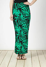 JULIAN MCDONALD Skirt - Palm Print Maxi Skirt UK 10