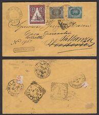 STORIA POSTALE San Marino 1894 Raccomandata per Verderio poi Pallanza (RSM)