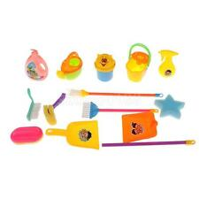 Kids Cleaning Set Role Pretend Play House Cleaning Tool Broom Dust Pan Brush