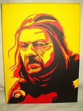 Lienzo Game Of Thrones Ned Stark Amarillo Arte 16x12 pulgada de acrílico