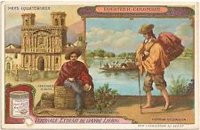 """""""Equateur Colombie"""" Liebig Beef Bouillon Advertising Trade Card Late 1800's"""