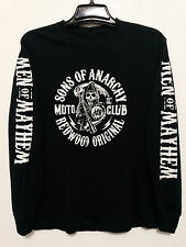 Sons of Anarchy T Shirt Size Medium Black with Graphic Men of Mayhem Reper Crew