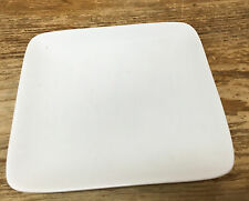 "Crate & Barrel White Square 1 Appetizer Bread Plate 5"" China Rounded Corners"