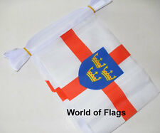 EAST ANGLIA FLAG BUNTING 9m 30 Fabric Norfolk Suffolk Party Flags English County