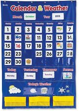 Classroom Teaching Calendar Educational Pocket Chart Day Month Weather New
