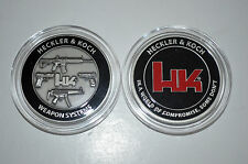 HECKLER& KOCH HK WEAPON SYSTEMS CHALLENGE COIN 2013 MR762 MR556 416 MP5 HK45 P30